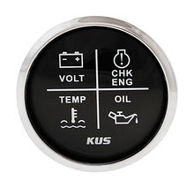 Multifunctional Alarm Gauge, Black/Chrome