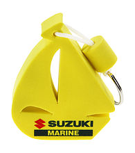 Keychain-float a sailboat yellow Suzuki Marine