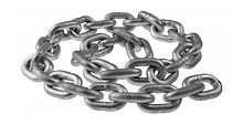 Anchor Chain 10 mm DIN766, L=0.6m, Zinc Plated