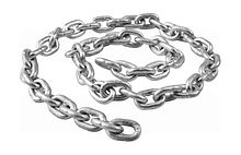Anchor Chain 6 mm DIN766,  Zinc Plated, L=0.5m