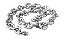Anchor Chain 8 mm DIN766, L=0.5m, Zinc Plated
