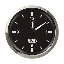 Analog Clock, Black/Chrome