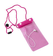 Waterproof Case  100x190 mm, Pink, IPX7