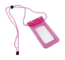 Waterproof case for Smartphone 165x115 mm, pink