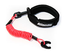 Stop Safety Lanyard for Kawasaki with strap, Red
