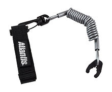 Stop Safety Lanyard for Kawasaki with strap, silver