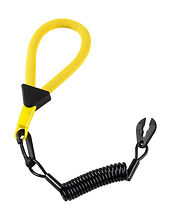 Stop Safety Lanyard for Yamaha with floating strap, black and yellow