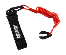 Stop Safety Lanyard for Yamaha with strap, krasna