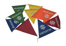 Suzuki flags 10pc. triangular