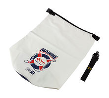 Dry bag Marine PVC 15l, white/blue