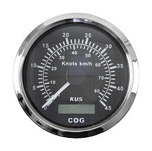 GPS Speedometer, Black/Chrome