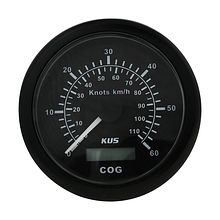 GPS Speedometer 60 knots,  Black