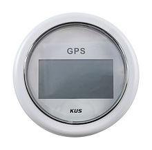 GPS Speedometer, White/White