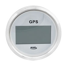 GPS Digital Speedometer, White/Chrome