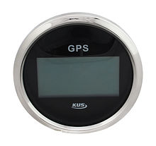GPS Digital Speedometer, Black/Chrome