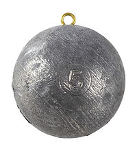 Sinker for Downrigger ball  5 lbs  (2.2 kg)
