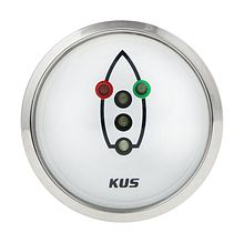 Navigation lights Gauge, White/Chrome