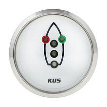Navigation lights Gauge, White/Chrome