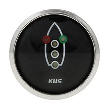 Navigation lights Gauge, Black/Chrome