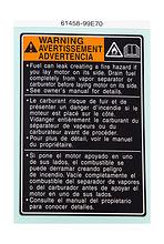 Information label Suzuki DF15A-20A