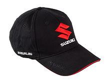 Cap Suzuki, black, 3D embroidery
