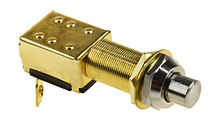 Push Button Switch 12V, Nonfixed, Chrome