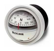 Ritchie Explorer compass, white, mortise