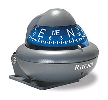 Ritchie compass Sport, gray hull blue dial