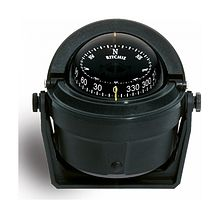 Ritchie Voyager compass, black, with bracket