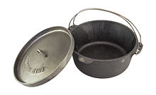 Camping Cast Iron Pot 30 cm, Captain Stag