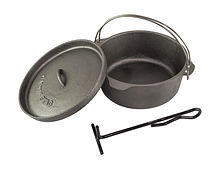 Camping cast iron pot set 25 cm, Captain Stag