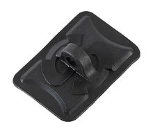 Handrail mount for boats, rectangular, hole diameter 12 mm, black