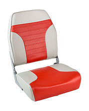 Seat folding soft ECONOMY with high back, grey/red