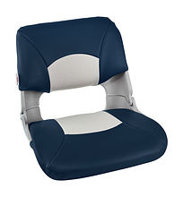 SKIPPER Folding Seat, soft, Grey/Blue
