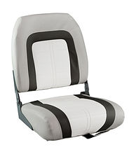 SPECIAL HIGH BACK Folding Seat, Soft, Grey/Black/White Vinyl