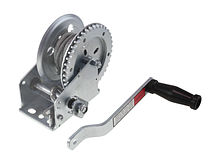 Manual trailer winch 1000 lbs (455 kg) with cable