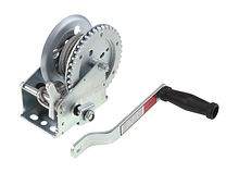 Manual trailer winch 1200 lbs (545 kg) with cable