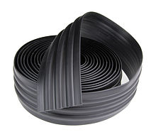 Protection tape, type d1, black, 70 mm (keel)