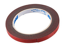 Double Sided Adhesive Tape 12mm x 5m, Red