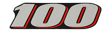 Cover engine sticker for Suzuki DF100A (100), front