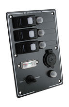 Switch Panel, 3 Switches, Charge Gauge, Cig. Socket, Auto-Fuse