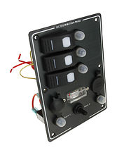 Switch Panel, 3 Switches, Charge Gauge, Socket, Auto-Fuse