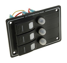 Switch Panel, 3 Switches, Vertical, Auto-Fuse Protection