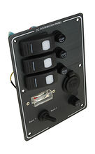 Switch Panel, 3 Switches, Charge Gauge, Cig. Socket