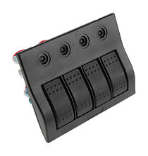 Switch Panel, 4 Switches, Auto-Fuse Protection