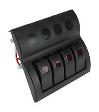 Switch Panel, 4 Switches, Auto-Fuse Protection, Lighted