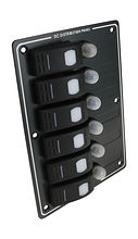 Switch Panel, 6 switches, Lighted, Horisontal, Auto-Fuse Protection
