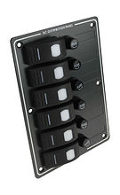 Switch Panel, 6 Switches, Horisontal