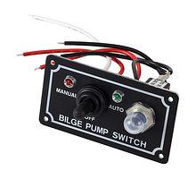 Panel Bilge Pump Switch, auto-off-manual, waterproof