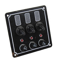 Switch Panel, 3 Switches, 12V